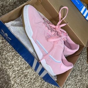 Pink Gum adidas shoes, worn once, size 9.5